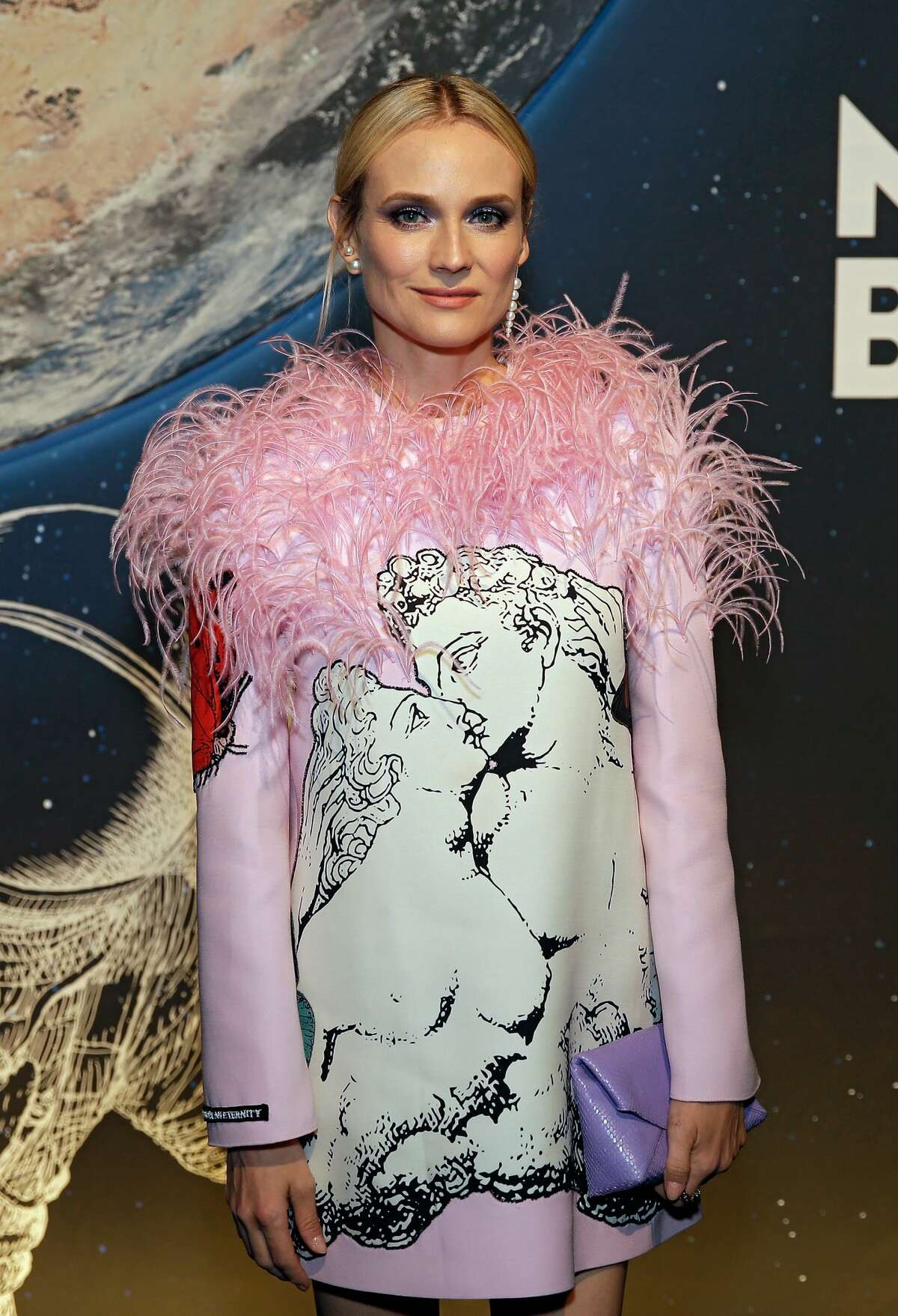 Diane Kruger at the Montblanc StarWaker Event celebrating the 50th anniversary of the moon landing at the Lone Star Flight Museum.