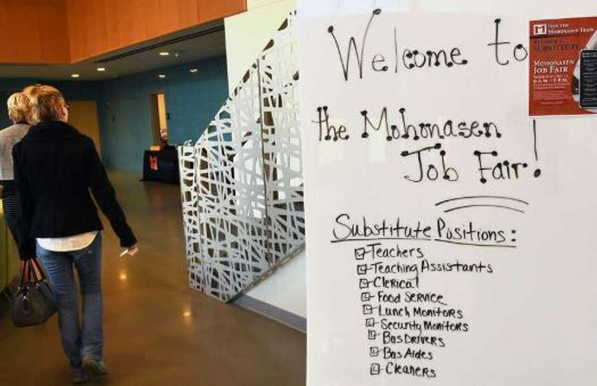 Mohonasen Central School District responds to a state-wide substitute shortage by hosting a Substitute Job Fair at the Center for Advanced Technology on Wednesday, Nov. 15, 2017 in Schenectady, N.Y.