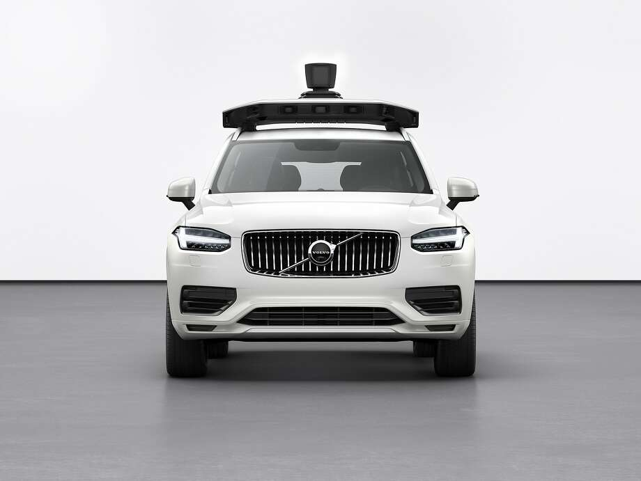 Uber says it can easily install its self-driving system into the Volvo XC90 during production, making the vehicles fully autonomous when they roll off the assembly line. Photo: Volvo Cars