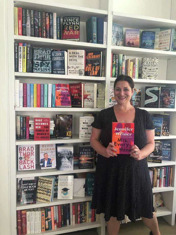 """Author Jennifer Weiner with her 13th novel, """"Mrs. Everything."""" Photo: /contributed"""