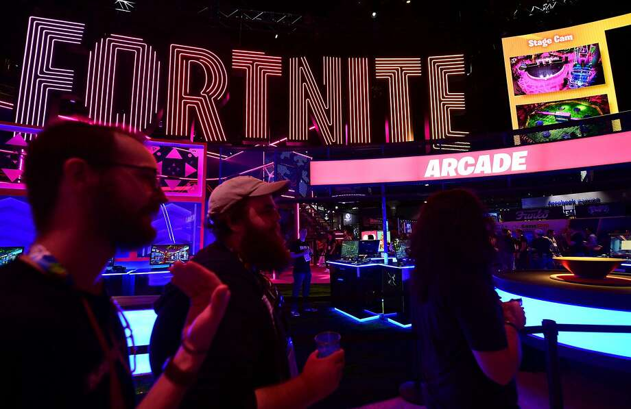 FILE PHOTO: Fortnite season 10 is already full of surprises. The 'Fortnite' section attracts fans at the 2019 Electronic Entertainment Expo, also known as E3, opening in Los Angeles, California on June 11, 2019. Photo: Frederic J. Brown / AFP / Getty Images