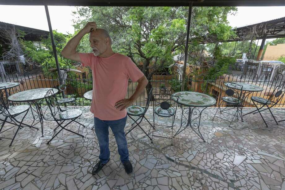 Charles Trois at the Trois Estate in May, a few weeks before a deadline to remove his vast collection of historic and artistic items from the property. Photo: William Luther /Staff Photographer / ©2019 San Antonio Express-News
