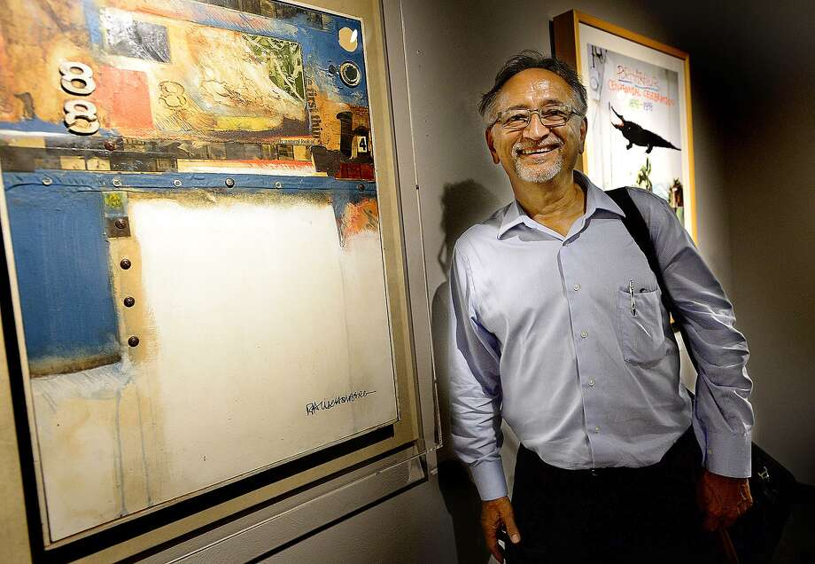 "Tony Webber, president and CEO of Southwest Museum Services, claimed ownership of Rauschenberg's ""Barely There,"" in an interview with the Beaumont Enterprise last year. Photo: Kim Brent /The Beaumont Enterprise / BEN"