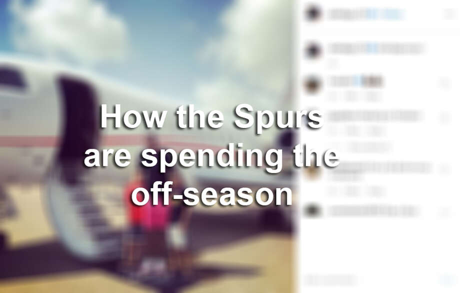 How the Spurs are spending the off-season. Photo: Instagram