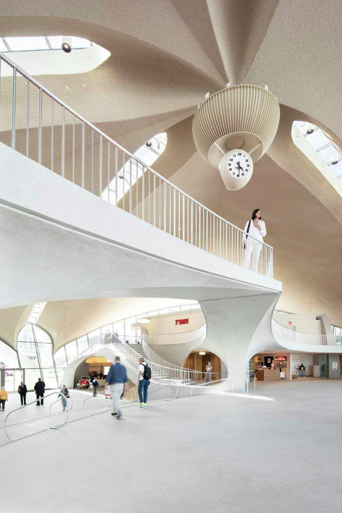 The main concourse of the TWA Hotel.