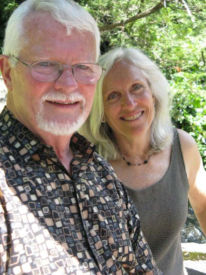 "Greenwich author Ken McAdams and his illustrator wife Marian ""Bing"" Bingham have written a new book, ""Bon Courage,"" describing the perils, pleasures and pitfalls of renovating a house in southern France. Photo: Anne W. Semmes / Greenwich Citizen"