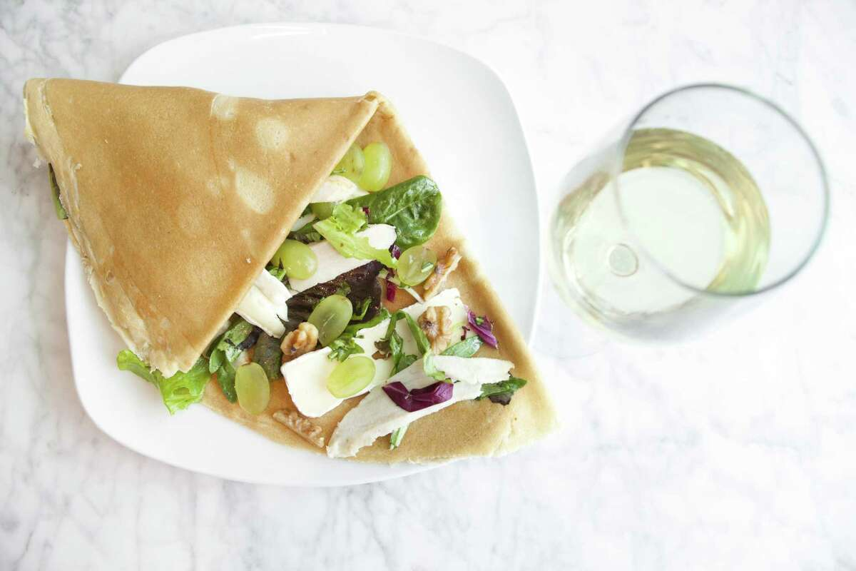 Turkey, French brie and grapes crepe at Sweet Paris Creperie & Café.