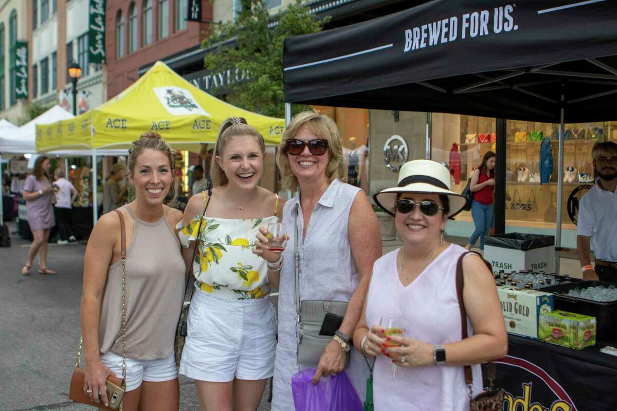 Plagued by two different attempts to hack the event have caused organizers of Wine Walk 2020 to issue a warning to attendees: the event is from 6-9 p.m., Thursday, Nov. 12. Scenes during the HEB Wine Walk on Thursday, June 6, 2019 at Market Street in The Woodlands.