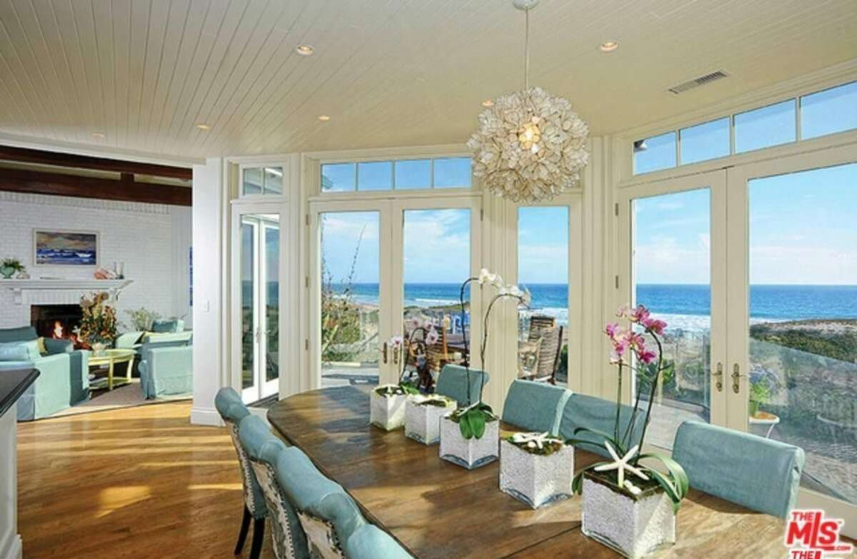 Dining area with a view of the beach