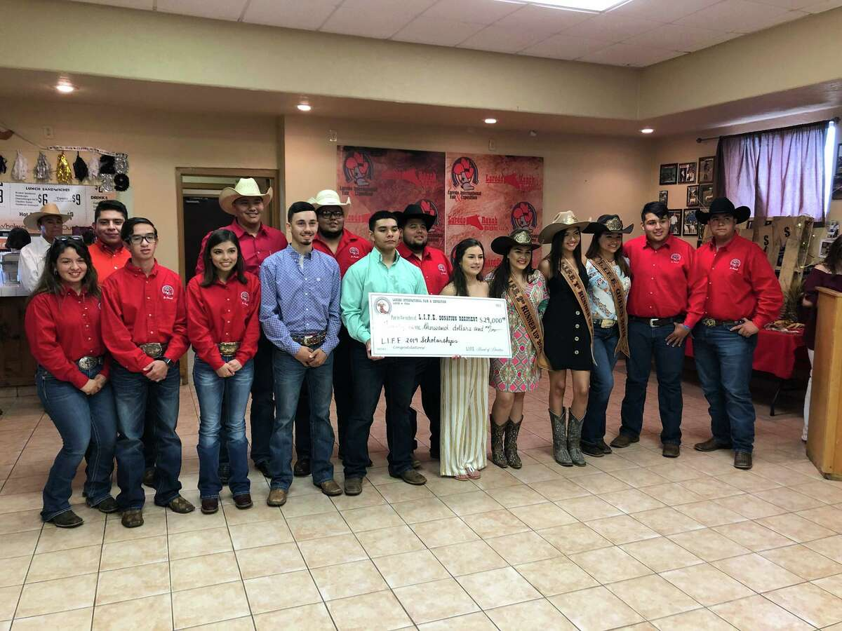 Students were awarded scholarships by the Laredo International Fair and Exposition Thursday, May 6, 2019