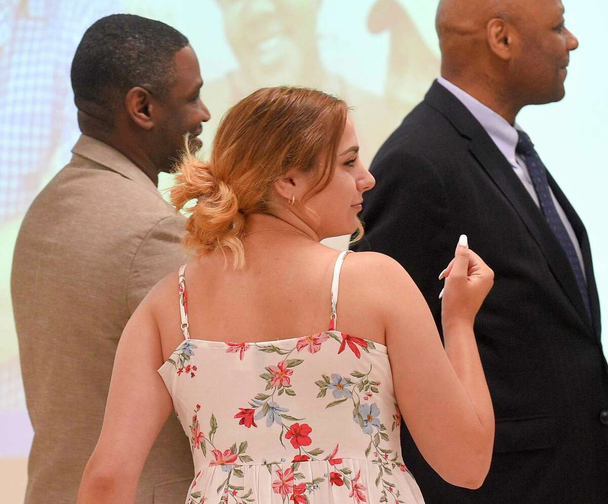 The Alternative Routes to Success recognition ceremony on June 12, 2019 in Stamford, Connecticut. Students from LEAP, RISE, Boys and Girls Club, Home Instruction and Out of District programs received certificates, celebrating their accomplishments and successes before families, friends, school and district administrators at the Academy of Information Technology and Engineering (A.I.T.E.) school.