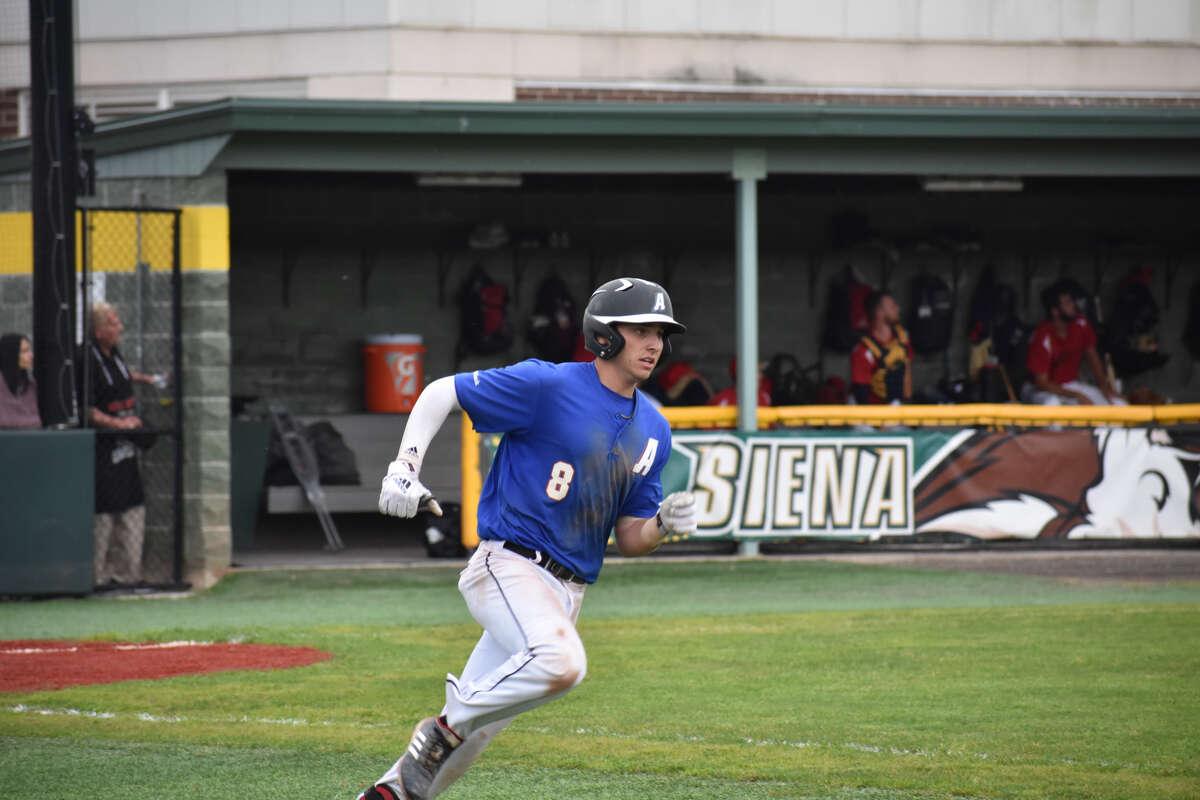 Catcher/second baseman Ben Metzinger played with the Albany Dutchmen in 2019. (Samantha Engelmyer/Albany Dutchmen)