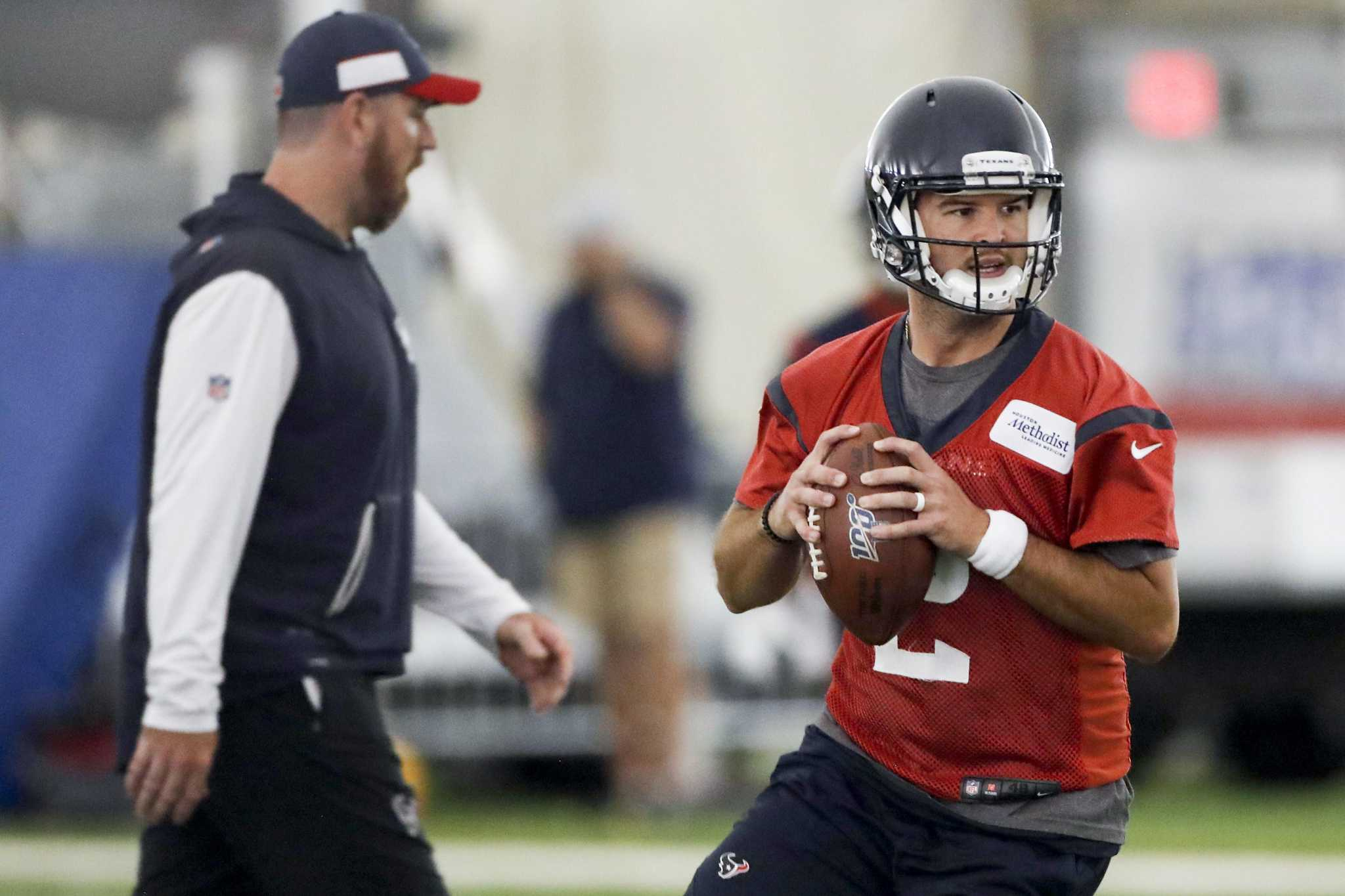 Aj Mccarron Settles In As Texans New Backup Qb