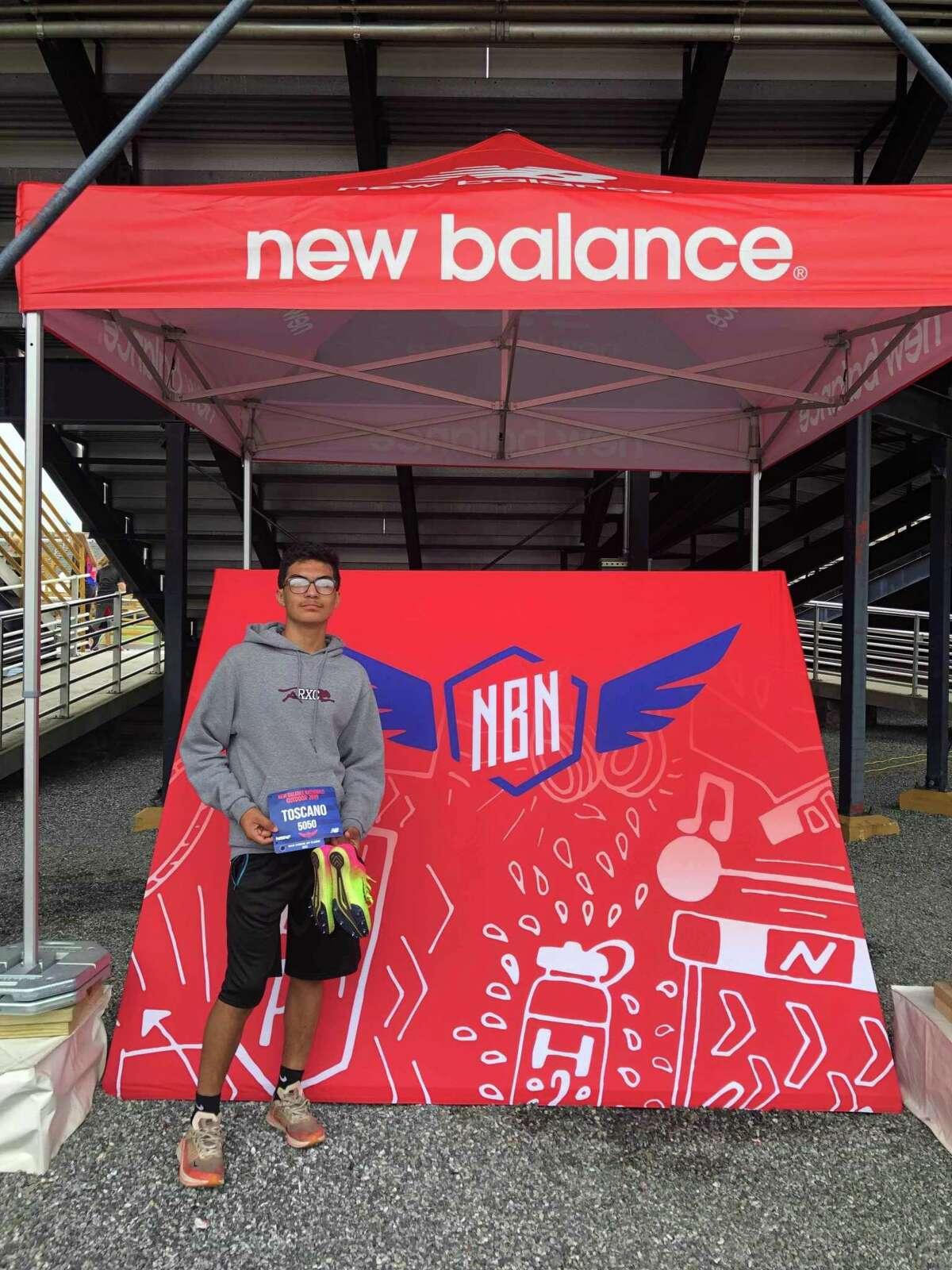 Laredoan Carlos Toscano earned an invitation to theNew Balance Outdoor Nationals meet and will run Thursday at North Carolina AT& University in Greensboro, North Carolina.