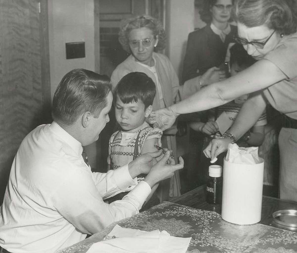 Polio vaccinations in the 1950s in Midland. (Midland Daily News file)
