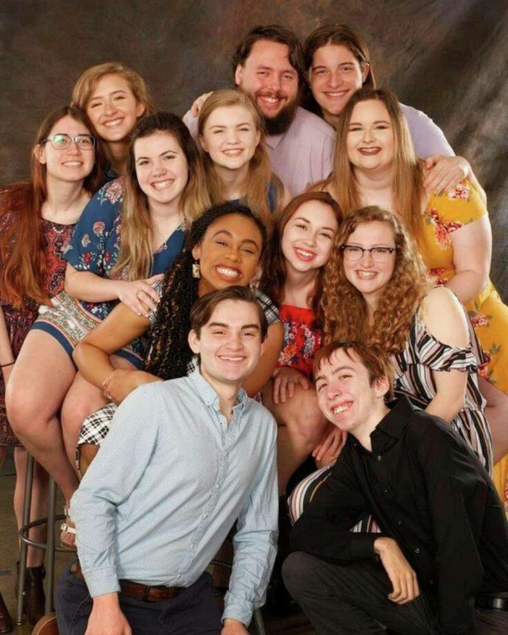 The  2019 CMU Summer Theatre Company. Top, from left, Hannah Shoemaker, Abbey Demorow, Trinity Novak, Karinna Taylor, Walter Mueller, Michael Richards and Madison Miloszewski. Middle, from left,  Rebecca Rose Mims, Jessica Boehmer and Grace Krick. Bottom, from left, Avery Kiefer and Nicholas Huettig (photo provided)
