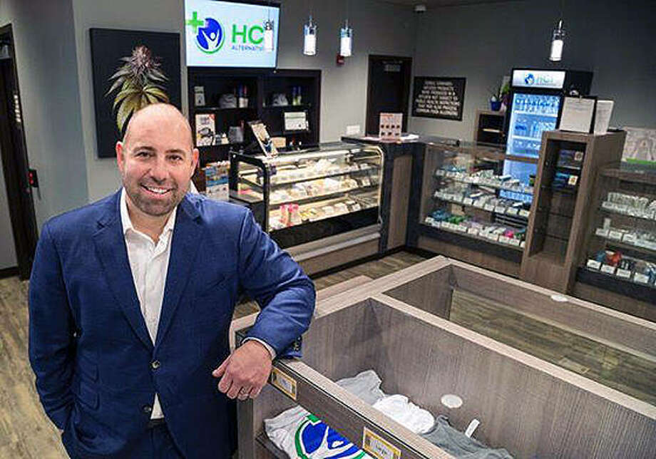 Chris Stone, CEO of Springfield and Collinsville medical cannabis dispensary HCI Alternatives. Photo: Photo By HCI