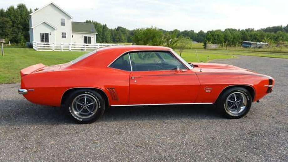This 1969 Chevy Camaro was stolen from the old Palmer Farm in Voluntown over the winter. The Camaro's VIN is 123379L525269. The '69 Camaro originally sold for $2,727. Today, its high retail value is $43,200, according to J.D. Power. Photo: State Police Photo