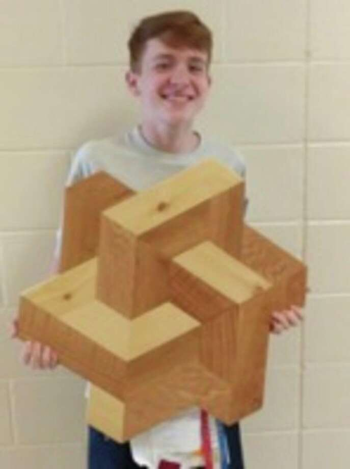 Max Iseler, grade 10, made this geometric wall art. (Submitted Photo)