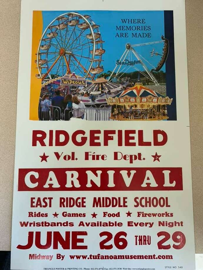 The Ridgefield Volunteer Fire Department's annual carnival returns June 26-29, 2019. Photo: Ridgefield Volunteer Fire Department / Facebook
