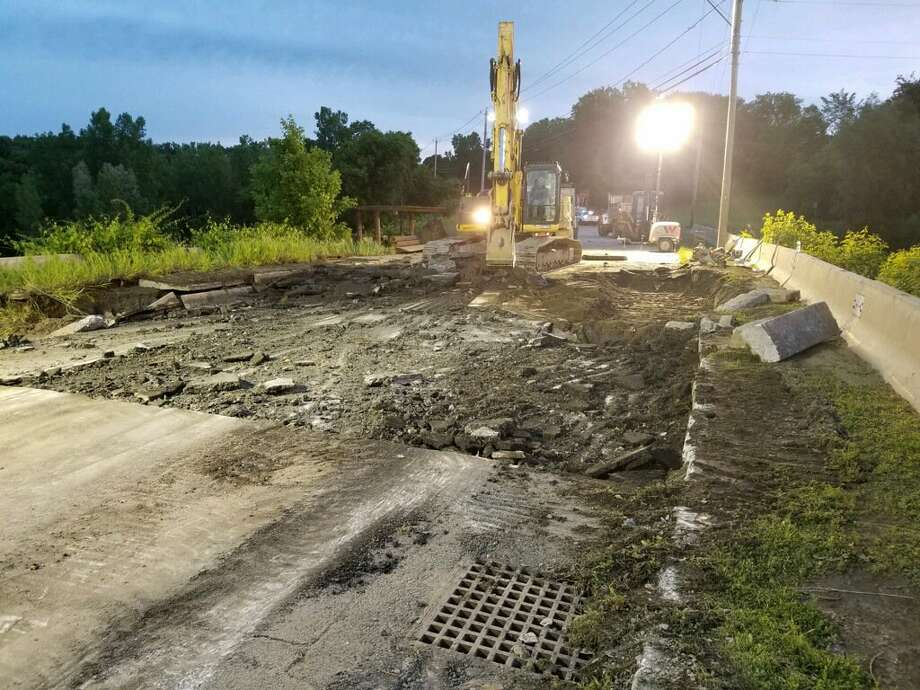 Crews in Troy are working to repair a water-main break on Oakwood Avenue that forced the closing of Troy High School Thursday and a mandatory boil-water notice for residents in parts of Troy, Brunswick, Poestenkill, and North Greenbush. Photo: City Of Troy