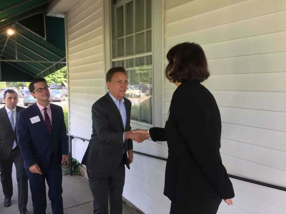 Gov. Ned Lamont talked business with the Fairfield business community Wednesday at the Brooklawn Country Club. Photo: Jordan Grice / Hearst Connecticut Media / Connecticut Post