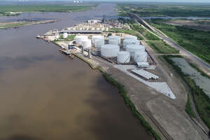 Aerial view of the Howard Energy Partners Port Arthur Terminal. The San Antonio pipeline and storage terminal operator is poised for more exports after completing a pair of expansion projects in both Port Arthur and Corpus Christi.