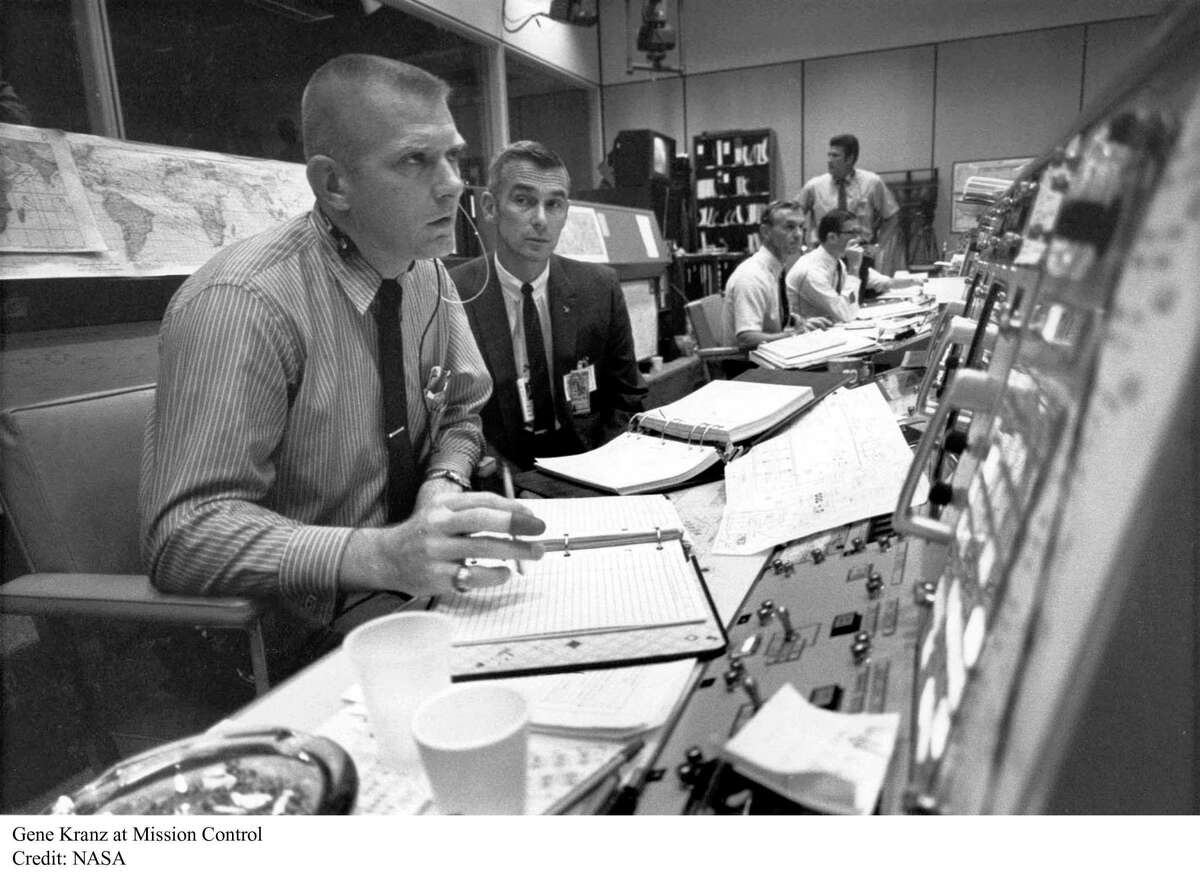 Gene Kranz is shown here at Mission Control in this undated photo.