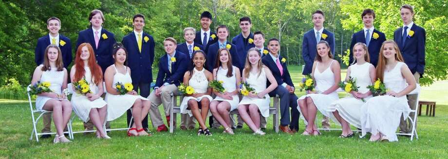 The Country School of Madison graduated 22 students June 12, including several from Middlesex County towns. Photo: Contributed Photo