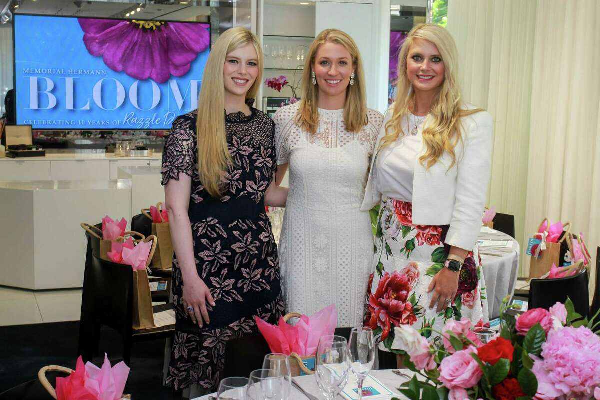 Kimberly Falgout Scheele, from left, Christina Stith and Christine Falgout Gutknecht at the Lunch N Learn hosted by Memorial Hermann at Tenenbaum Jewelers. Kimberly and Christine co-chaired the event hosted by Christina.