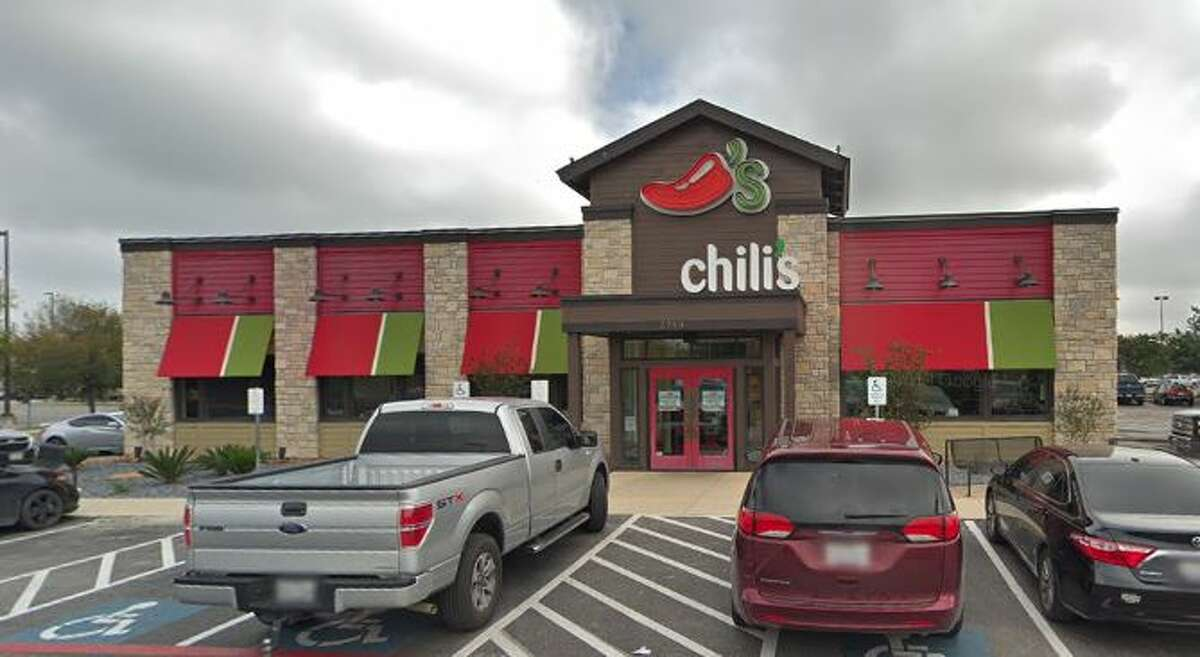 Chili's Grill & Bar: 5790 Loop 1604 North Date: 10/14/2019 Score: 87 Highlights: Inspectors noted the establishment must discard discolored and worn cutting boards. General cleaning was needed on the floors in the bar area under equipment. There were uncovered tea urns. Uncovered employee drinks were next to clean forks.