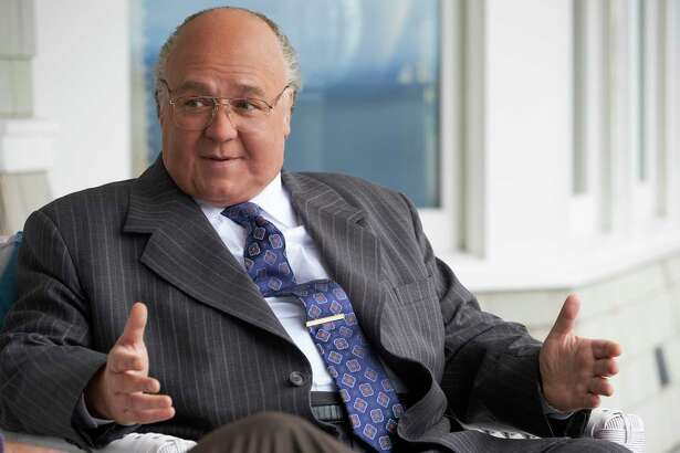 "Russell Crowe as Roger Ailes in ""The Loudest Voice."""