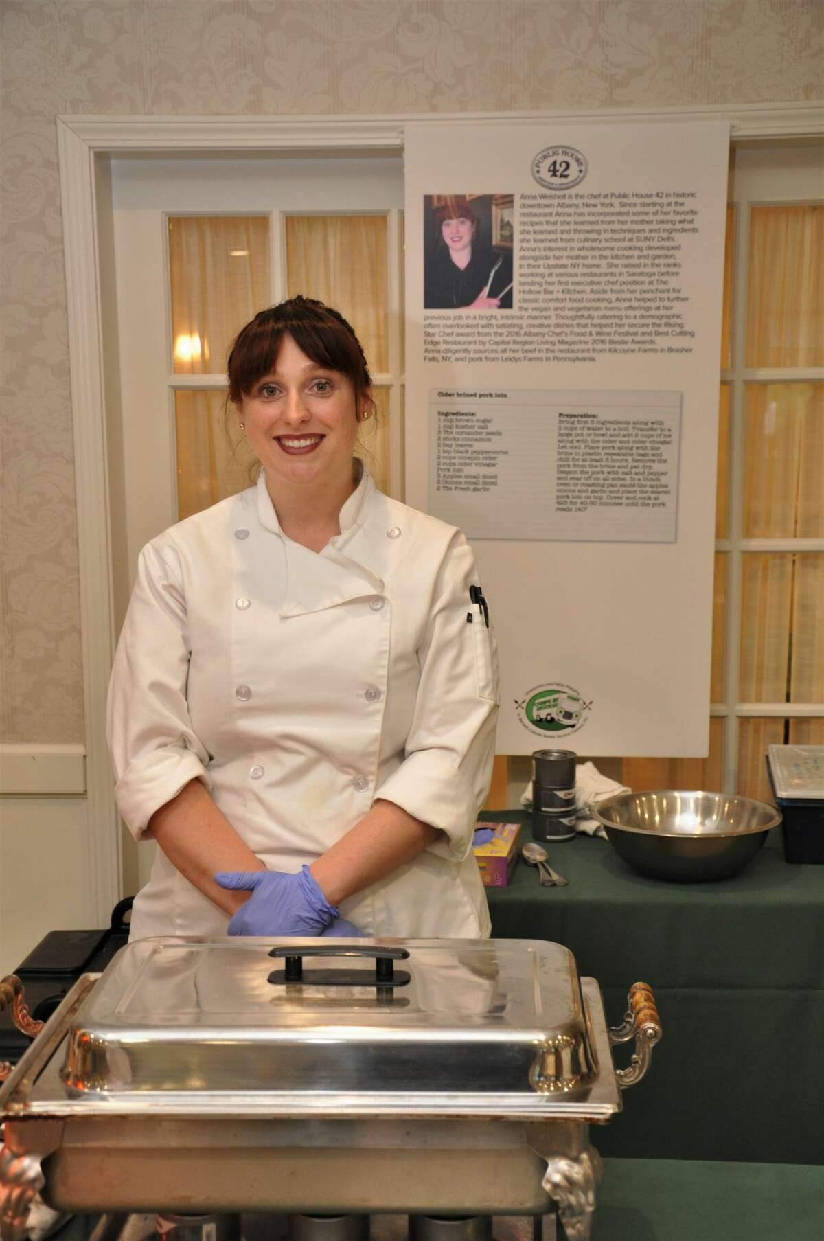 Were you Seen at Chefs in Motion, a culinary tasting and competition benefiting Colonie Senior Services Center, at the Beltrone Living Center in Colonie on June 10, 2019? Pictured: Chef Anna Weisheit from Public House 42.