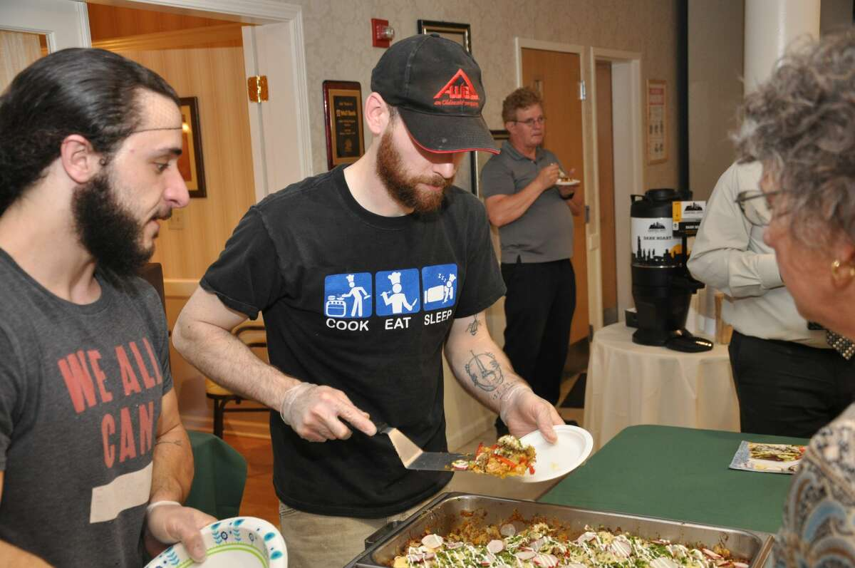 Were you Seen at Chefs in Motion, a culinary tasting and competition benefiting Colonie Senior Services Center, at the Beltrone Living Center in Colonie on June 10, 2019? Pictured: Chefs from Honest Weight Food Coop.
