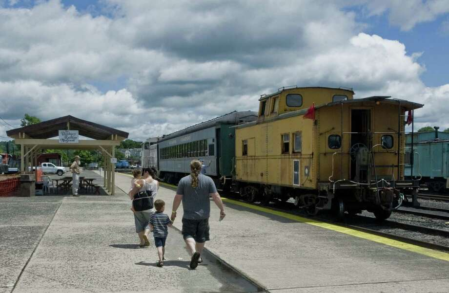 Father's Day at the Danbury Railway Museum, Sunday from noon-5 p.m. Train rides every hour from 12:30-3:30 p.m. Free train rides to all fathers with a child's paid admission. Photo: Scott Mullin / The News-Times Freelance