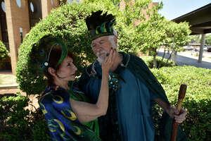 Rehearsal for outdoor Shakespeare play June 1, 2019 at MCT. James Durbin/Reporter-Telegram