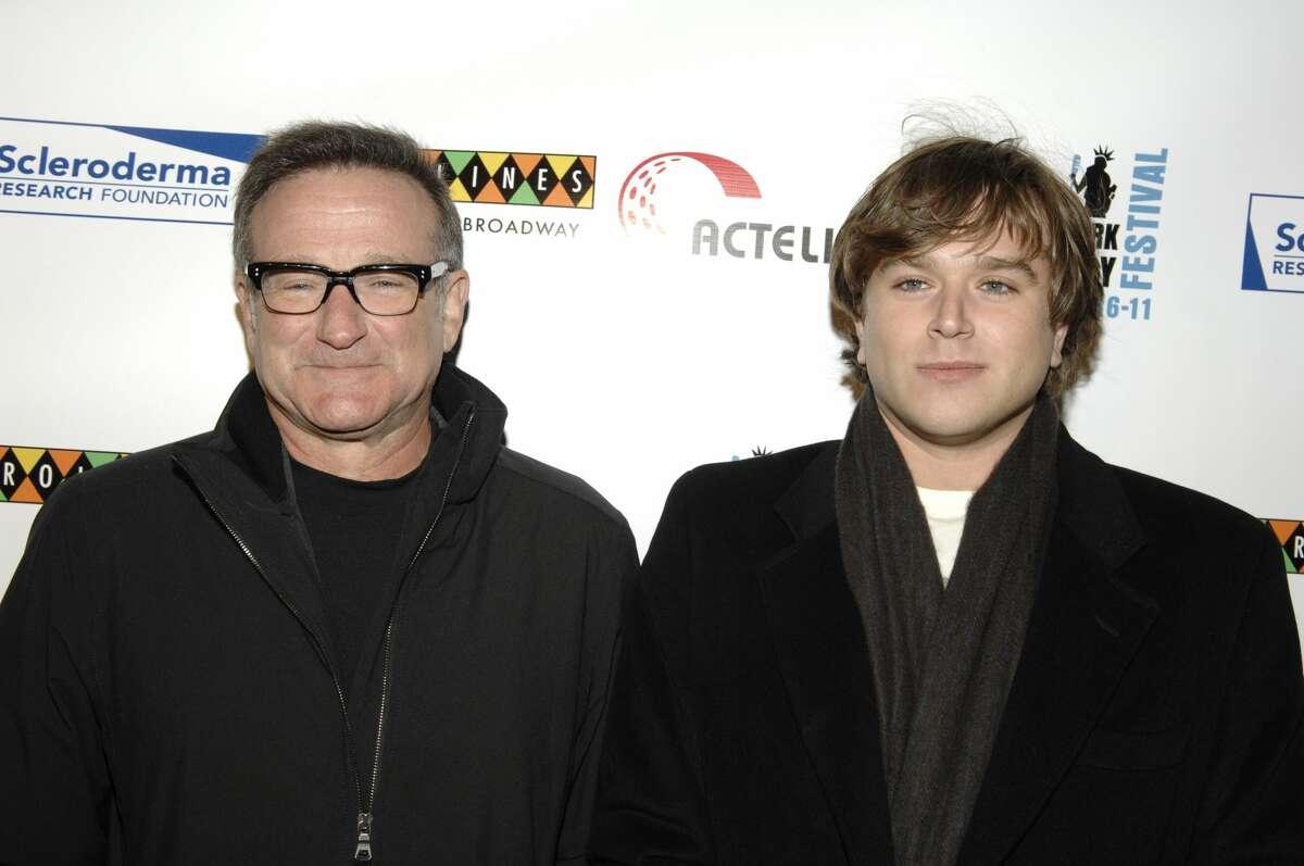 NEW YORK - NOVEMBER 06: Robin Williams and Zachary Williams attend Bob Saget, Caryn & Jeff Zucker Host The NY Comedy Festival Event