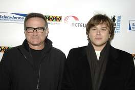 """NEW YORK - NOVEMBER 06: Robin Williams and Zachary Williams attend Bob Saget, Caryn & Jeff Zucker Host The NY Comedy Festival Event """"Cool Comedy-Hot Cuisine: An Evening to Benefit"""" on November 6, 2007 at Caroline's in New York City. (Photo by Shawn Ehlers/WireImage)"""