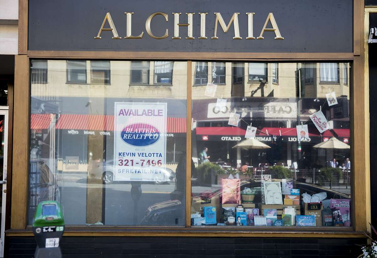 A vacant storefront at 444 Columbus Avenue is seen in the North Beach neighborhood of San Francisco, Calif. Friday, June 7, 2019.