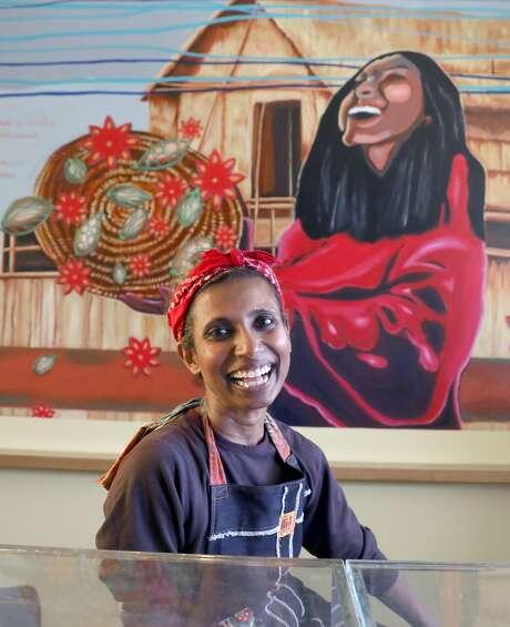 Azalina Eusope at her new restaurant, Mahila, the first full-service Mamak (Indian Muslim) restaurant in S.F. Photo: Liz Hafalia / The Chronicle