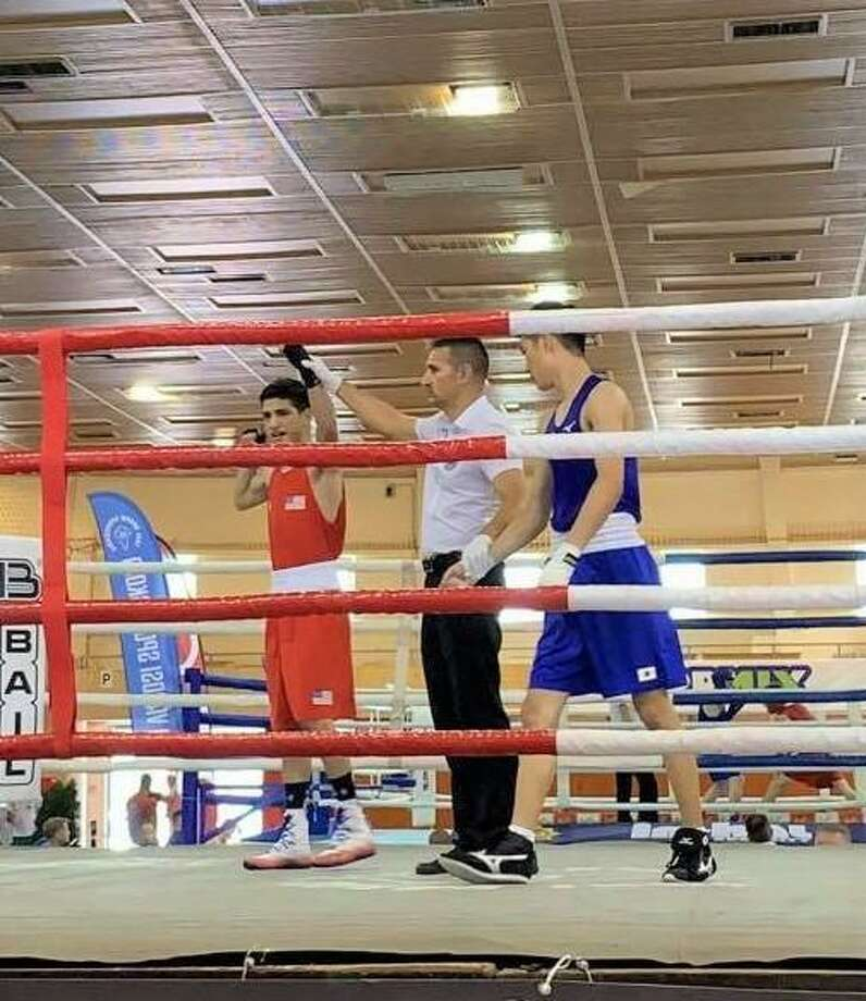 Emilio Garcia won by technical knockout Thursday to advance to the finals at the 69th Bornemissza Tournament in Eger, Hungary. Photo: Courtesy Photo