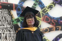 Linda McCullum, 67, recently received her master's degree in criminal justice from the University of Houston-Downtown.