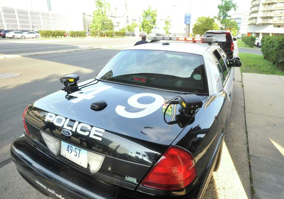 Stamford Police license plate scanners sit on the back of a cruiser on Tuesday, Aug. 27, 2013. Photo: Jason Rearick / Jason Rearick / Stamford Advocate