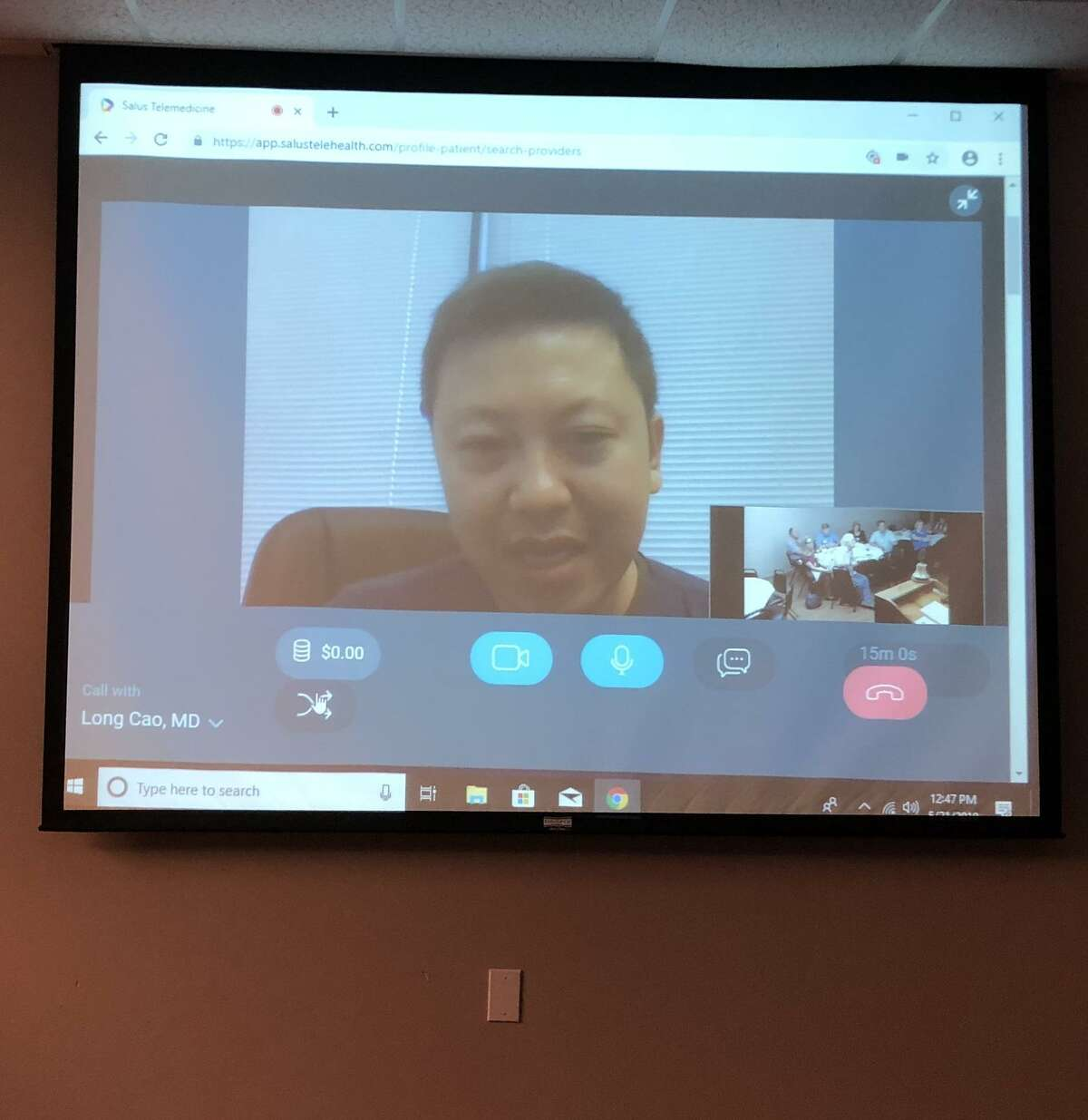 OakBend Medical Group's Dr. Long Cao, a preventative cardiologist, is one of the group's doctors now able to see patients via telemedicine. The doctors can then determine if patients need to be admitted to the hospital or if there is another plan of action that should be taken.
