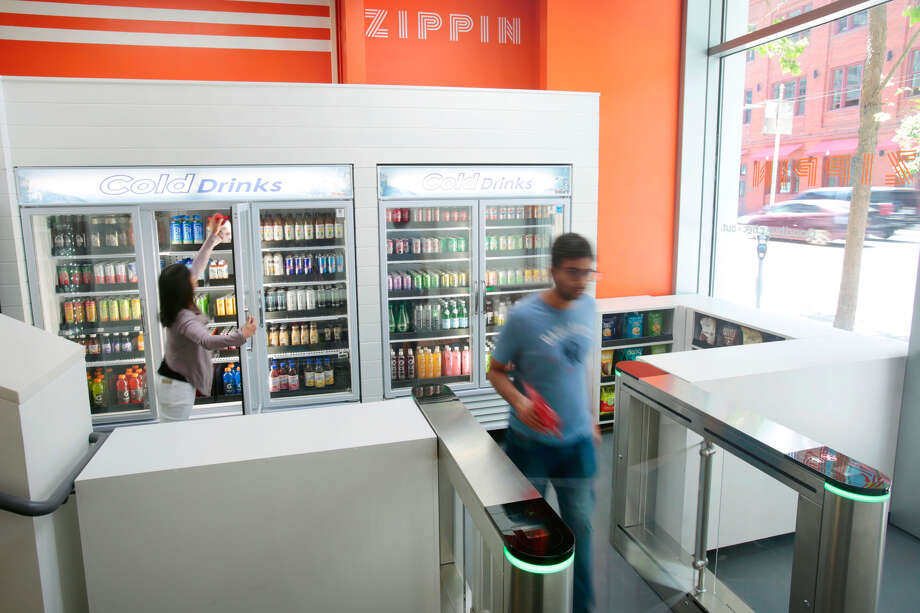 Zippin, a new cashier-less store in downtown San Francisco, is giving Amazon Go some competition. Click through to see price comparisons (Amazon Go prices are based on an October 2018 visit we made to the store). Photo: Courtesy Of Zippin