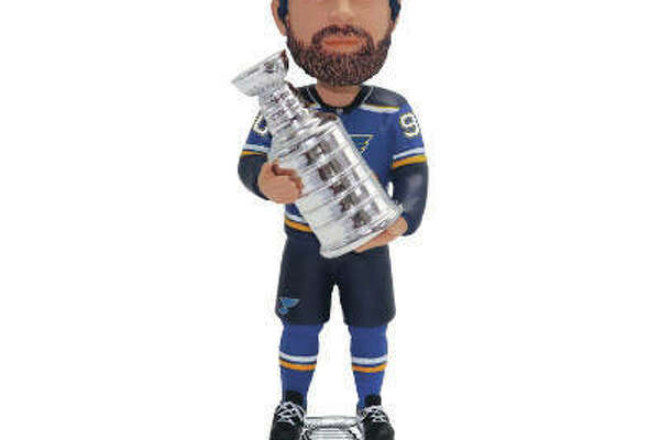 St. Louis Blues 2019 Stanley Cup Champions Bobblehead, available for presale at the Milwaukee, Wisconsin-based National Bobblehead Hall of Fame and Museum's Online Store at bobbleheadhall.com. This bobblehead features Ryan O'Reilly holding a replica Stanley Cup. All of the Blues' bobbleheads are officially licensed and manufactured by FOCO.