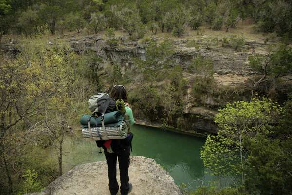 An overlook bend in the river off of Wolf Mountain Trail at Pedernales Falls State Park on Friday, March 17, 2017, in Johnson City, Texas. ( Elizabeth Conley / Houston Chronicle )