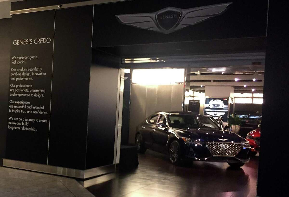 This Genesis car showroom is one of the new tenants at Stamford Town Center mall in downtown Stamford, Conn.