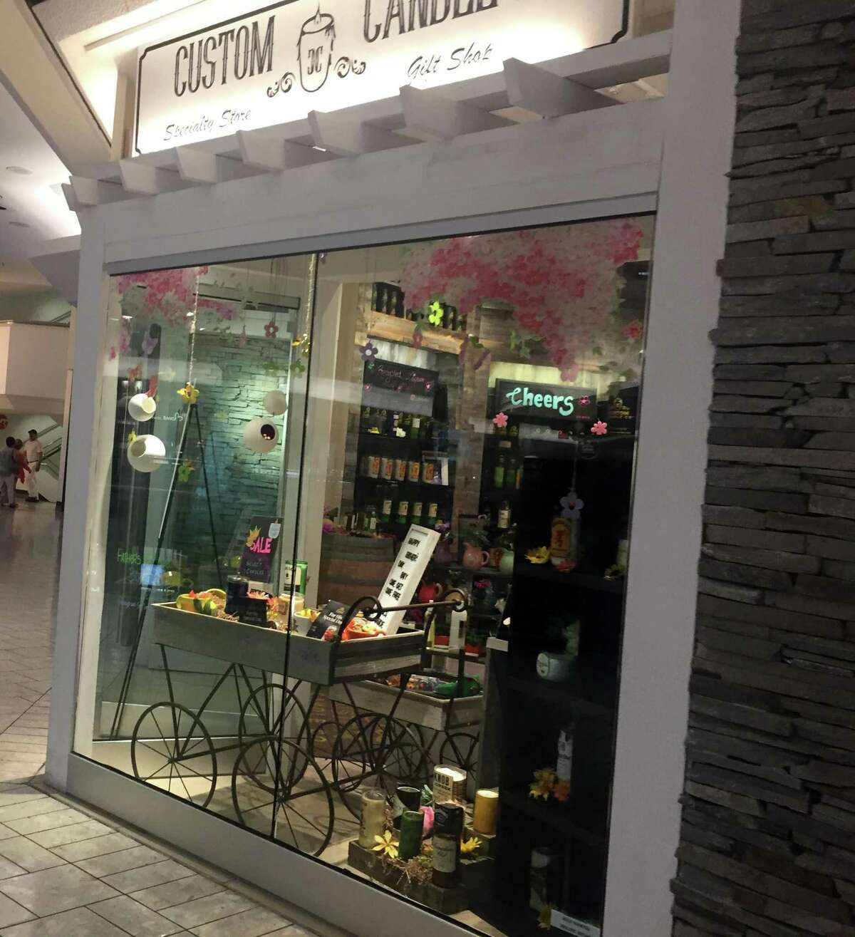 Custom Candle Co. opened its store at Stamford Town Center in April 2019.