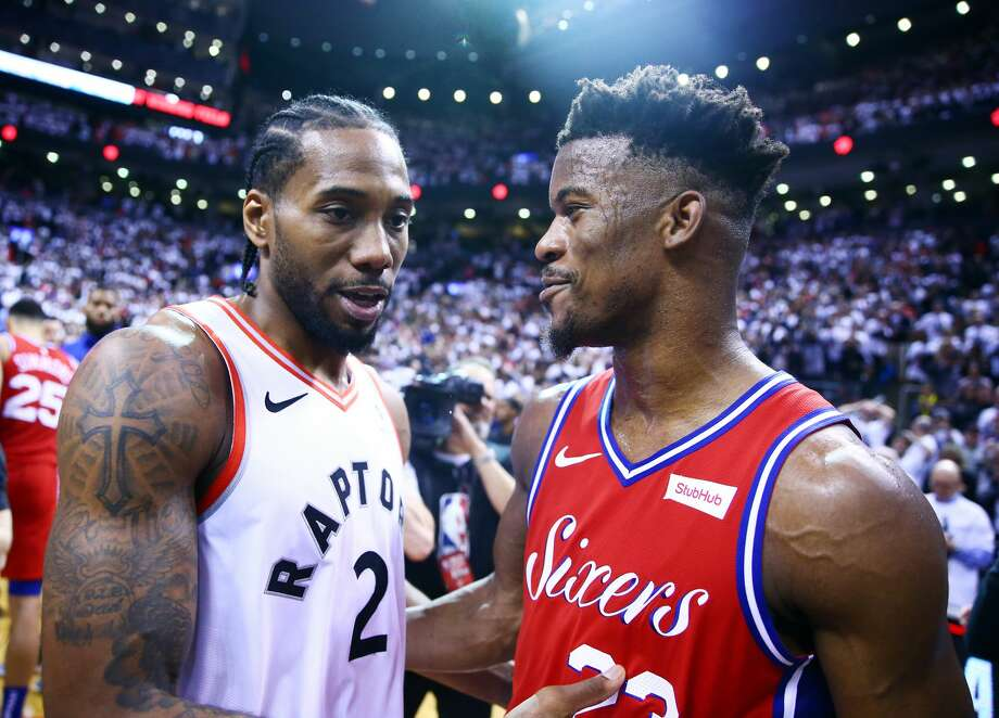 PHOTOS: The best NBA free agents available this offseason The Raptors' Kawhi Leonard (left) and the 76ers' Jimmy Butler are both going to break the bank with max contracts this offseason. The question is: Who will they play for next season? Browse through the photos above for a look at the best available players in NBA free agency this offseason ... Photo: Vaughn Ridley/Getty Images